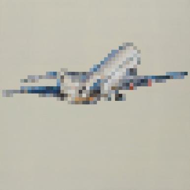 On a plane 140x140 cm