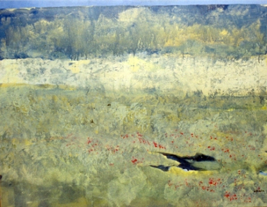Paisaje Azul. Acrílico sobre tela. 100 x 81 cm.
