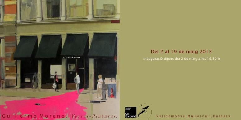 Cartel oficial de la exposción del artista Guillermo Moreno. Mallorca
