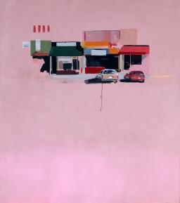 Garaje Mondrian. 140 x 120 cms.