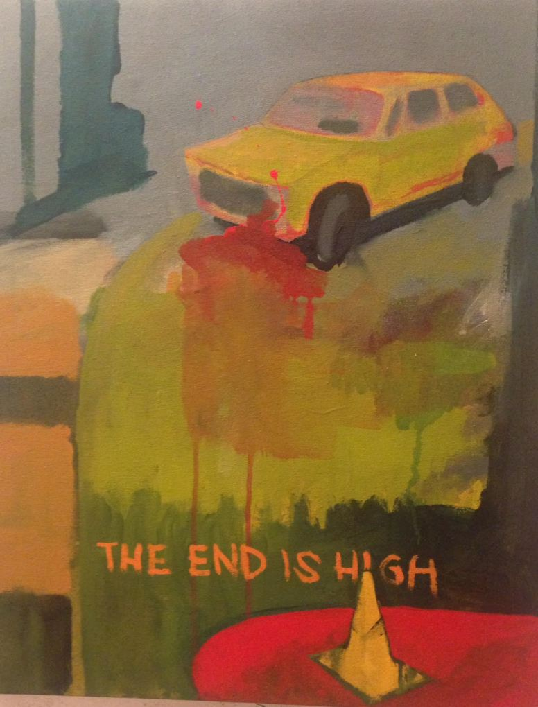 The end is high| 50 x 40 cm.
