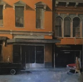 """The Chase"" 180 x 180 cm. Acrílico sobre lienzo."