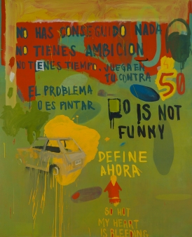 45 is not funny. 185x150 cm. Acrílico sobre tela. 2014